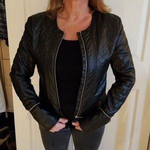 H&M Faux Leather  Moto Jacket Size 6
